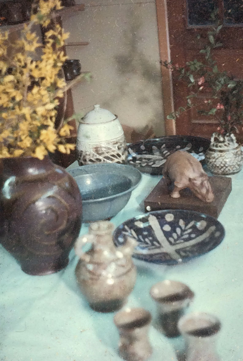 Early ceramic works by Melvin Jay Lindsay, 1973