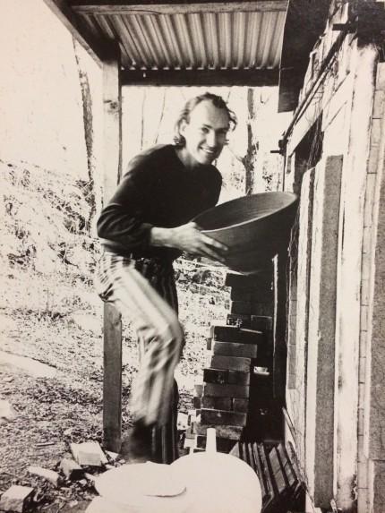 Potter Melvin Jay Lindsay at the kiln