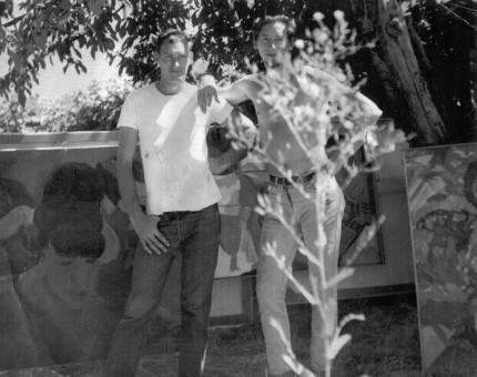 Artist Melvin Jay Lindsay with Tom Blodgett