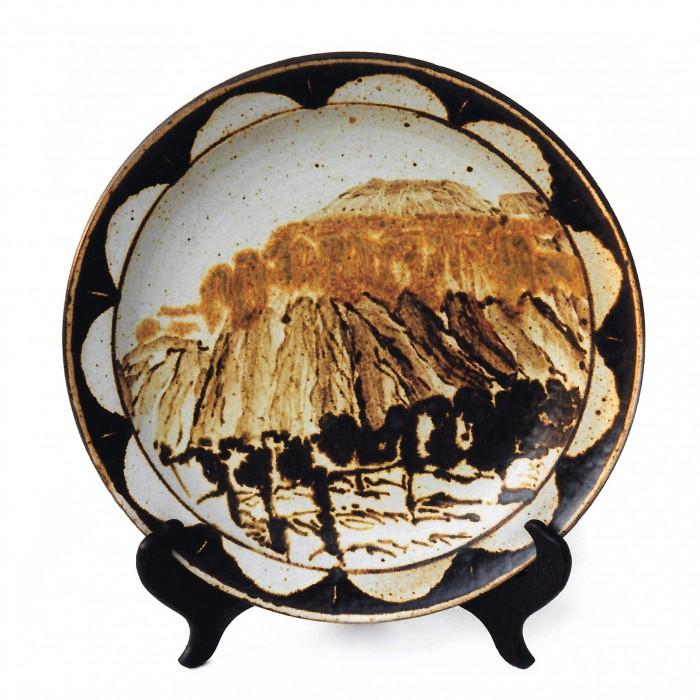 """Ceramic plate, 12"""" diameter, 1994"""