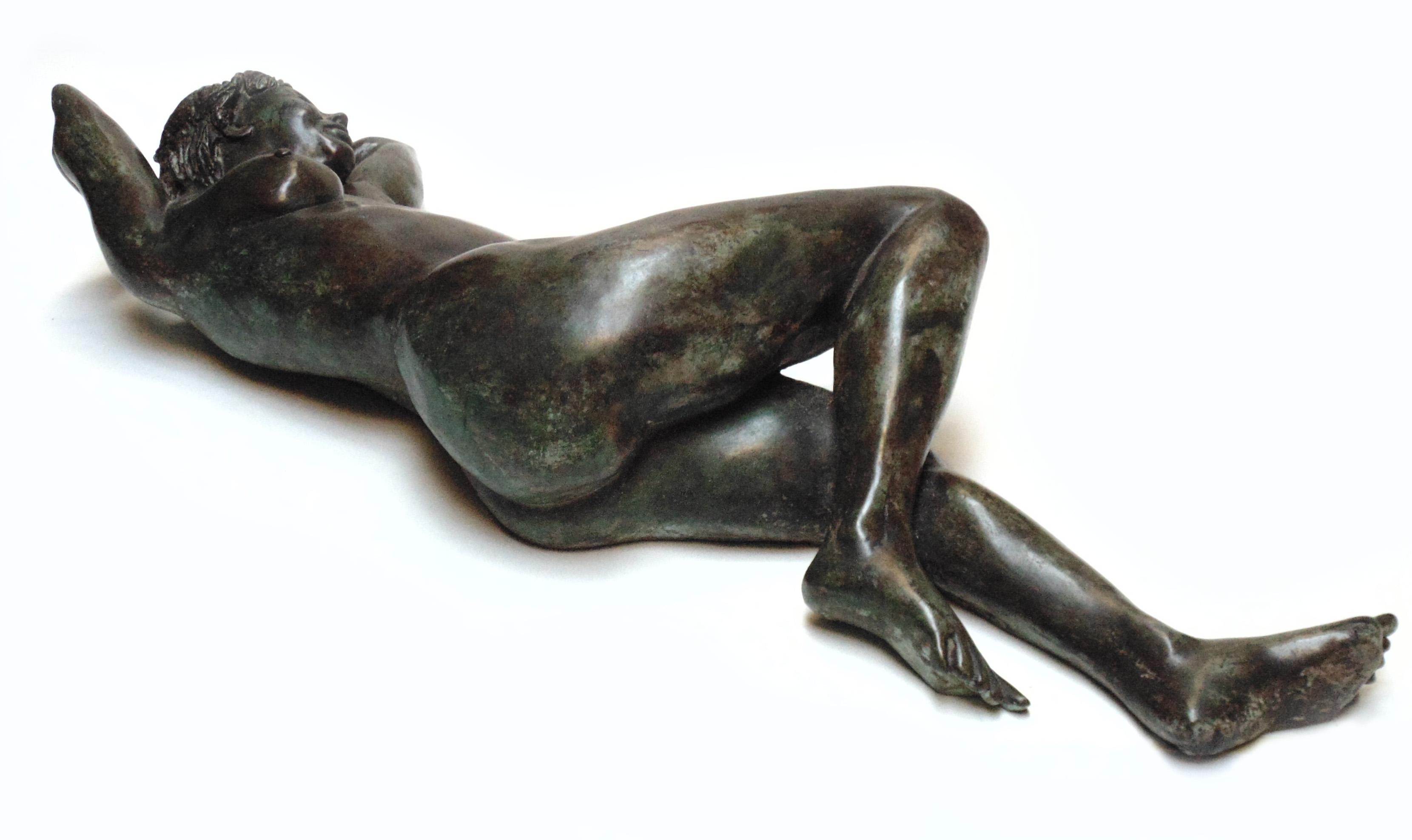 M Jay Lindsay Bronze reclining nude